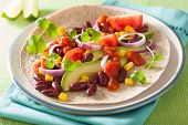 picture of kidney beans  - vegan taco with vegetable - JPG