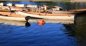 picture of old boat  - Old boats in the park lake harbor  - JPG