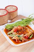 image of green papaya salad  - Somtum - JPG