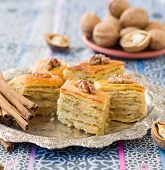 picture of middle eastern culture  - Baklava traditional oriental sweets - JPG