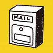 stock photo of mailbox  - Doodle Mailbox - JPG