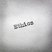 stock photo of ethics  - The word  - JPG