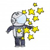 stock photo of spaceman  - cartoon spaceman - JPG
