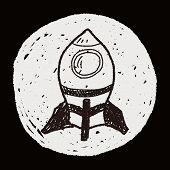 stock photo of spaceships  - Spaceship Doodle - JPG