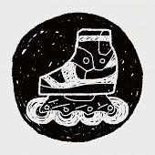 picture of roller-derby  - Roller Skate Doodle - JPG