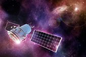 pic of orbital  - orbiting device in a purple - JPG