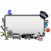picture of police  - Police frame with police cap - JPG