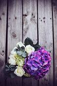 picture of purple rose  - Big bouquet of fresh flowers - JPG