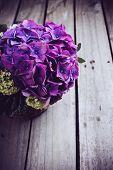 stock photo of purple rose  - Big bouquet of fresh flowers - JPG