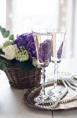 pic of wedding table decor  - Big bouquet of fresh flowers - JPG