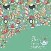 picture of pattern  - Vector summer pattern - JPG