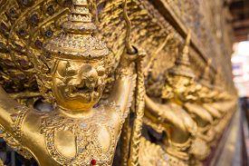 pic of garuda  - Garuda in Wat Phra Kaew Temple of the Emerald Buddha Grand Palace Thailand - JPG