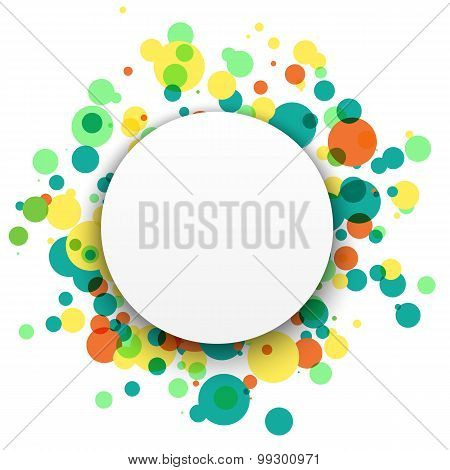 Colorful celebration background with confetti. Colorful abstract background.. Vector Illustration.