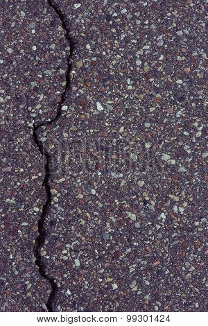 Close-Up texture of damaged asphalt road surface