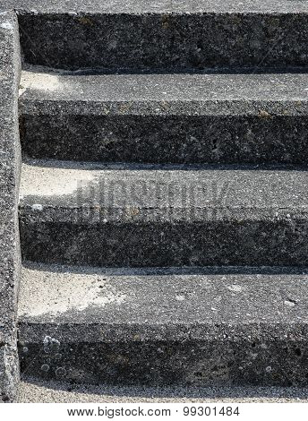 Old concrete stairs background