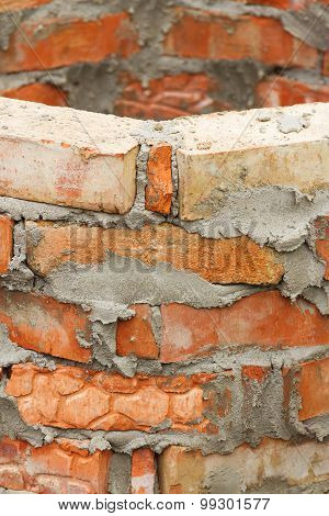 A Fragment Of A Brick Wall
