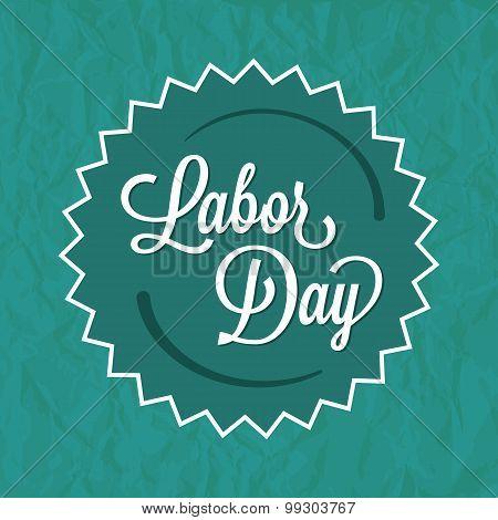 Labor Day Green Badge Label