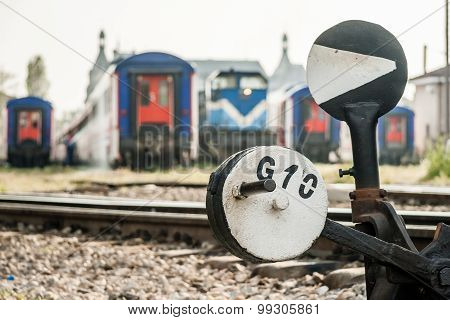 Hand Operated Railroad Switch Near Haydarpasa