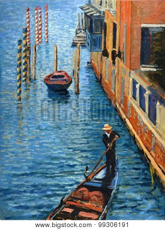 View of Venice Oil on Canvas