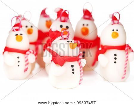 Handmade Snowmen, Christmas Decoration