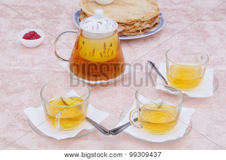 The image of served table