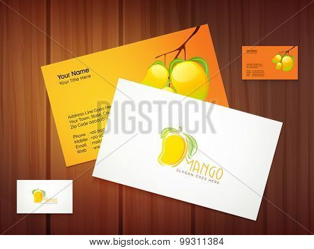Creative stylish business card or visiting card design with Mango.