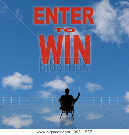 Enter to Win, message on the sky.