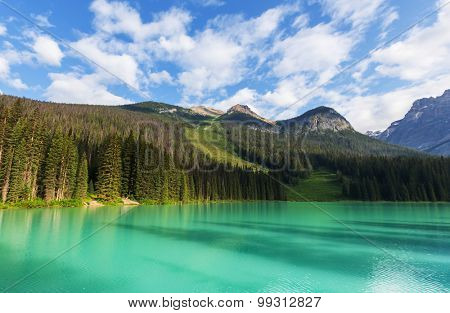 Serenity Emerald Lake in the Yoho National Park,Canada