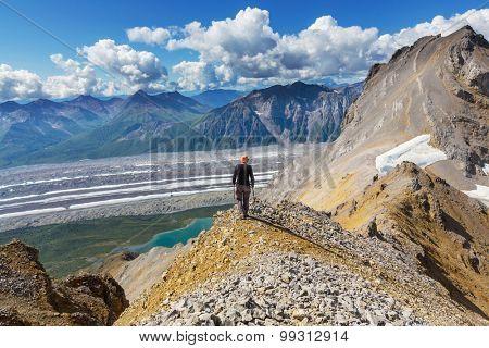 Ascent to Donoho peak,Alaska