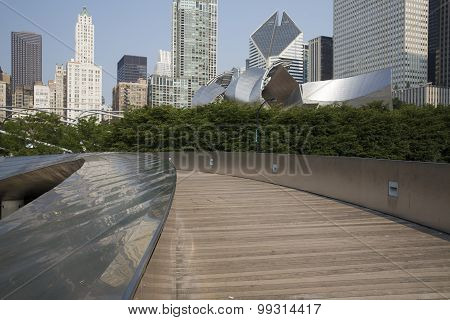BP walkway in Millenium Park Chicago