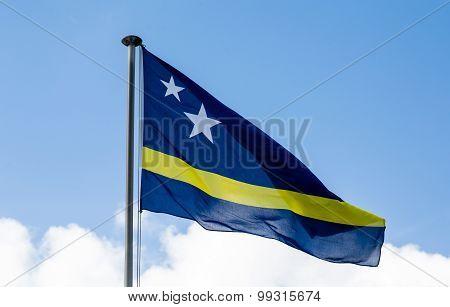 Curacao Flag Against Sky