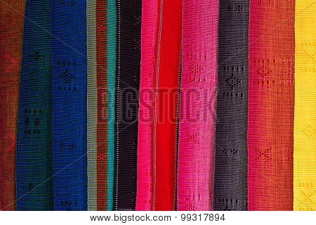 Set Of Colored Fabrics