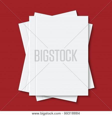 vector modern white books or brochure
