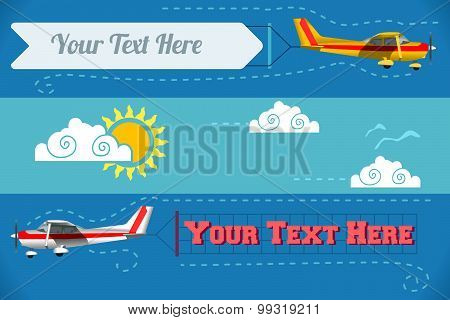 Airplane Banner Vehicle 2D