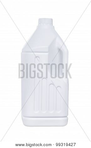White Plastic Bottle Isolated
