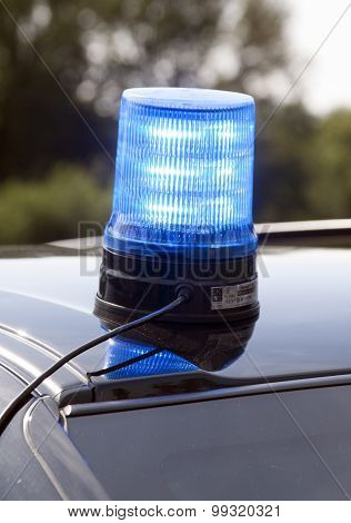 Light On A Police Car