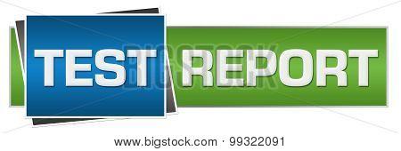 Test Report Green Blue Horizontal