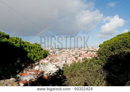 City of Lisbon in Portugal, view from above.