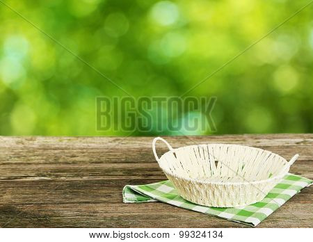 Background with wooden table