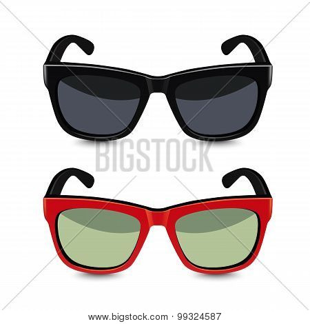 Realistic Sunglasses. Vector Illustration