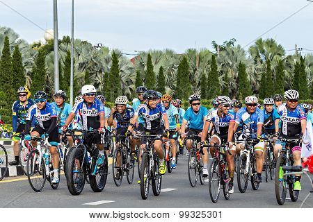 Chianh Mai, Thailand - August 16, 2015: Cyclist In Prepared