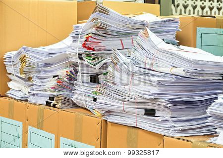 A Lot Of Stack Document Hard Work