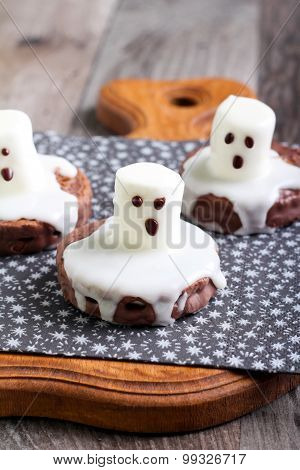 Spooky Boo Ghost Cookies