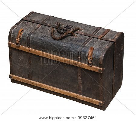 Vintage wooden suitcase nineteenth century