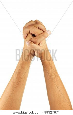 Male hand gestures