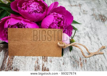 Peony With Tag
