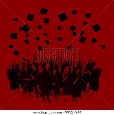 Graduation Student Life University Collage Concept