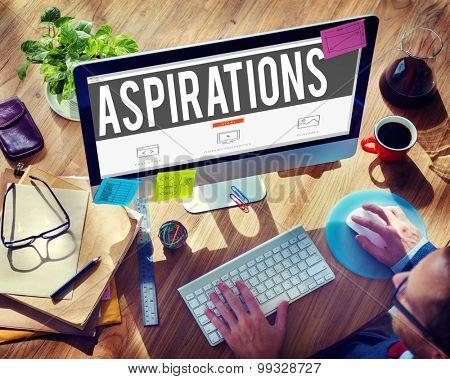 Aspiration Expectation Inspiration Hope Concept