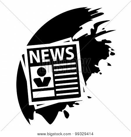 Newspaper Blot Icon. Vector Illustration.