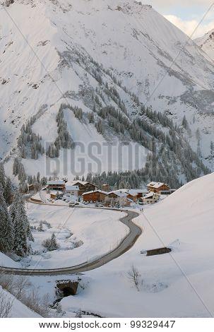 A Picturesque Village Of Nesslegg, Schrocken, Austria
